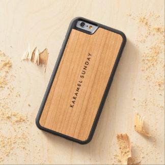 カスタムなiPhone 6/6sの豊富な木製の場合 CarvedチェリーiPhone 6バンパーケース