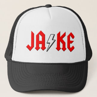 カスタムなJAKEのロックンロールのワイシャツ キャップ