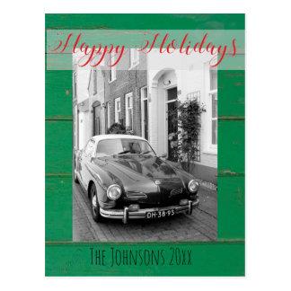 カスタムなKarmann Ghiaクラシックな車の芸術のプリント ポストカード