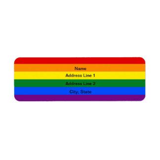 カスタムなLGBTの旗の宛名ラベル ラベル