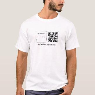 """カスタムなQRstuff.com """"あなたのロゴ"""" QRコードTシャツ Tシャツ"""