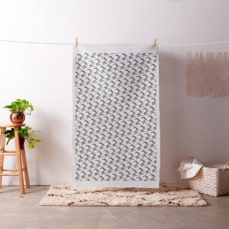 カスタムによってとかされる綿織物の(そのままの) black&white ファブリック