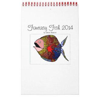 カスタムによって印刷されるカレンダー: ファンタジーの魚 カレンダー