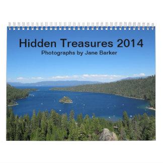 カスタムによって印刷されるカレンダー-隠された宝物2014年 カレンダー