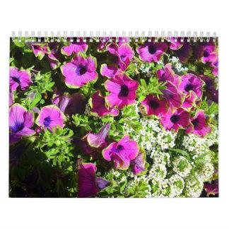 カスタムによって印刷される花のカレンダー カレンダー
