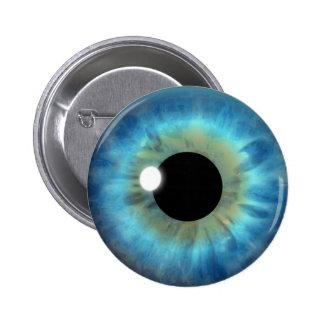 カスタムのクールな青い目のアイリス眼球のおもしろいの円形ボタン 5.7CM 丸型バッジ
