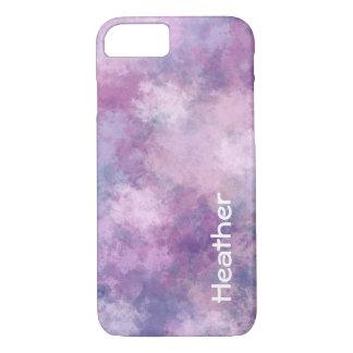 カスタムの抽象的な青、ピンク薄紫 iPhone 7ケース