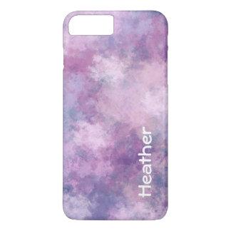 カスタムの抽象的な青、ピンク薄紫 iPhone 7 PLUSケース