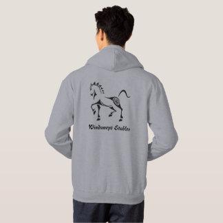 カスタムの文字ケルト族の種族の馬の生命の樹 パーカ