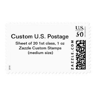 カスタムの第1クラス1つのozの郵便料金(普通サイズ)
