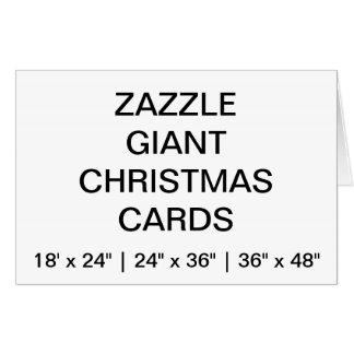 カスタムの非常に大きく巨大なクリスマスカード カード
