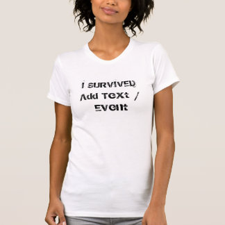 カスタムのI生き延びられた女性の素晴らしいジャージーのTシャツ Tシャツ