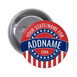 カスタムはあなたの一流の州の政治運動を加えます 5.7CM 丸型バッジ