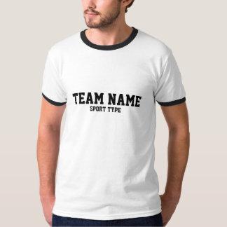 カスタムはジャージーのテンプレートを遊ばします Tシャツ