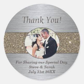 カスタムは結婚式用シール感謝していしています ラウンドシール