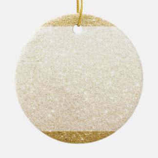 カスタム化のための金ゴールドのグリッターのブランクのテンプレート 陶器製丸型オーナメント