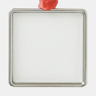 カスタム四角型オーナメント シルバーカラー正方形オーナメント