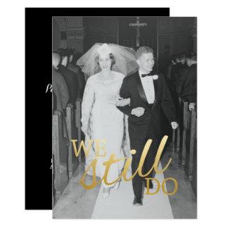 カスタム第56の結婚記念日の写真私達はまだ カード