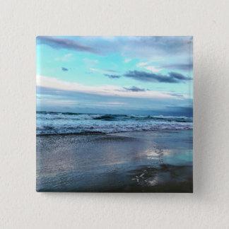 カスタム2インチの正方形ボタンのビーチの日没 缶バッジ