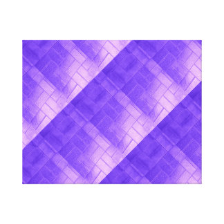 カスタム20 x紫色のタイルのデザインの16キャンバス キャンバスプリント