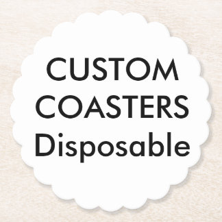 """カスタム4""""スカラップで仕上げられた使い捨て可能なパーティーのコースター ペーパーコースター"""