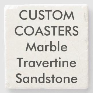 """カスタム4""""実質の石造りの大理石のコースター(支持されるコルク) ストーンコースター"""