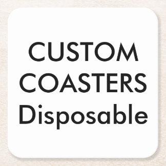 """カスタム4""""正方形の使い捨て可能なパーティーのコースター スクエアペーパーコースター"""
