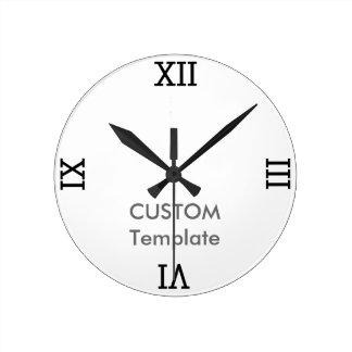 """カスタム8""""円形の柱時計のローマ数字 ラウンド壁時計"""