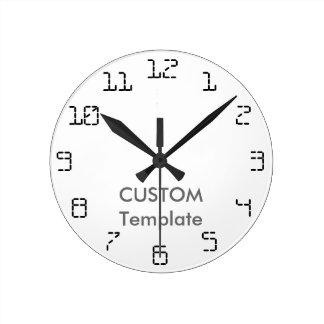 """カスタム8""""円形の柱時計ルナX ラウンド壁時計"""