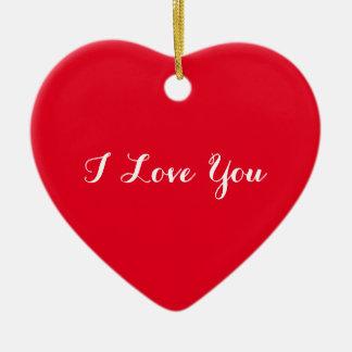 カスタムI愛バレンタインデーのハートのオーナメント セラミックオーナメント