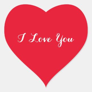カスタムI愛バレンタインデーの赤いハートのステッカー ハート形シール・ステッカー