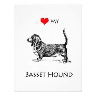 カスタムI愛私のバセットハウンド犬 レターヘッド
