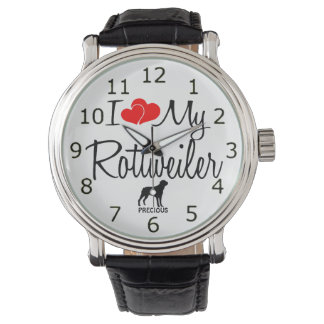 カスタムI愛私のロットワイラーの腕時計 腕時計