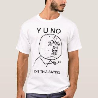 カスタムy u人の激怒の漫画のミーム無し tシャツ