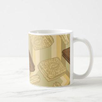 カスタードクリーム-茶マグ コーヒーマグカップ