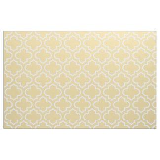 カスタード黄色いモロッコの格子垣パターン生地02 ファブリック