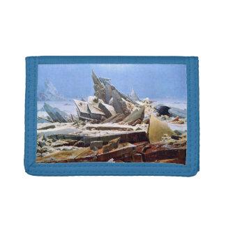 カスパー・ダーヴィト・フリードリヒ-氷1824年の海 ナイロン三つ折りウォレット