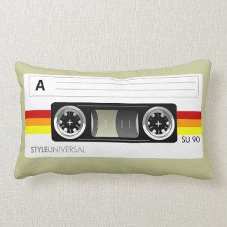 カセットテープのラベルのアメリカ人のMojoの枕 ランバークッション