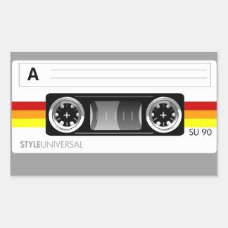カセットテープのラベルのステッカー 長方形シール
