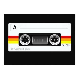 カセットテープのラベルの招待 カード