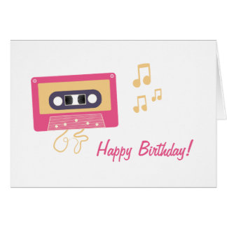 カセットテープの誕生日 グリーティングカード