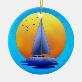 カタマランの航行 セラミックオーナメント