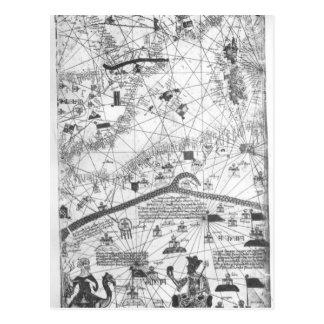 カタロニアの地図書からの詳細、1375年 ポストカード