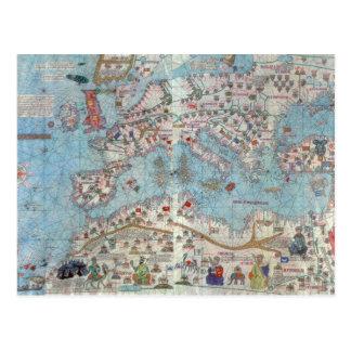 カタロニアの地図書: 北アフリカおよびヨーロッパの詳細、 ポストカード