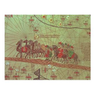 カタロニアの地図書、詳細の提示 ポストカード