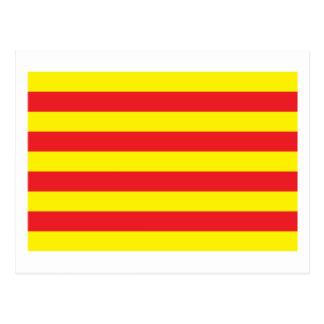 カタロニアの旗の郵便はがき ポストカード