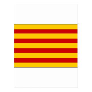 カタロニアの旗スペイン ポストカード