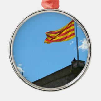 カタロニアの旗 メタルオーナメント