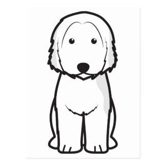 カタロニアの牧羊犬犬の漫画 ポストカード