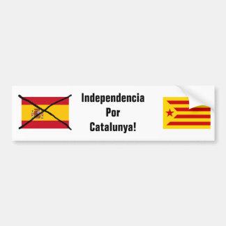 カタロニアの独立バンパーステッカー バンパーステッカー